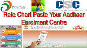 Aadhar Rate Chart 2017 Uidai New Guideline Or Notification For Digimail Vle Pec Most See Rate Chart Paste Your Shoop