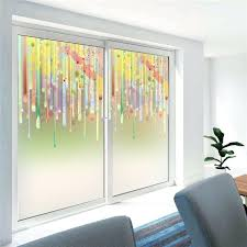 stained glass decal flowers decorative stained glass wall sticker home window decor window decal window