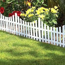 plastic picket fence plastic white picket fence garden edging image of garden border fencing garden of