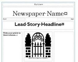 Create Newspaper Article Template Newspaper Template Creating Newspapers In The Classroom Scoop It