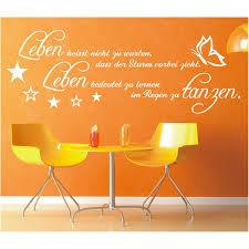 Wall Decals Stickers Wandtattoo Spruch Leben Sturm Regen Tanzen
