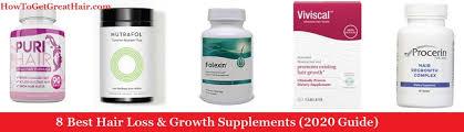 8 best hair loss growth vitamins