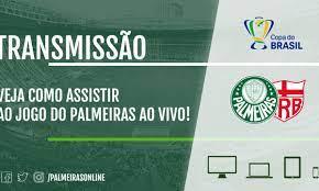 Palmeiras x CRB: Veja como assistir ao jogo da Copa do Brasil AO VIVO