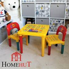 table and chair set abc alphabet childrens plastic kids toddlers childs