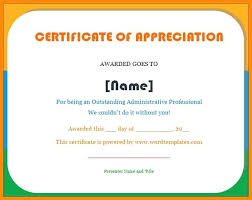 Student Appreciation Certificate Templates For Word In