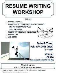 Resume Building Workshop Ppt Professional Resume Templates