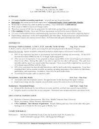 Cpa Resume Tax Certified Publicanting Skills Job Sample Senior