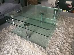 jacque extending glass coffee table