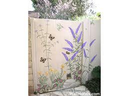 garden mural outdoor wall art