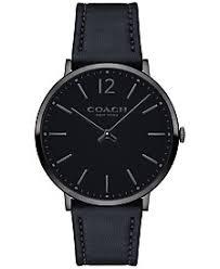 coach watches macy s coach men s slim easton black leather strap watch 40mm 14602112
