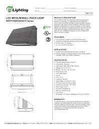 E2 Lighting Inc Led Medium Wall Pack Light Manualzz Com