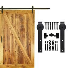 Decorating rustic sliding barn door hardware photographs : 5 16 FT single sliding barn wood door hardware interior top ...