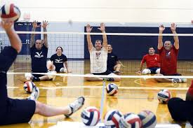 u s department of > photos > photo essays > essay view the navy s warrior games volleyball team practices at penn state university in state college pa