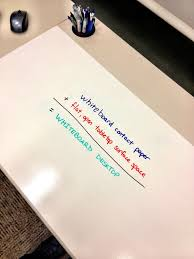 office whiteboard ideas. Save Paper By Sketching/writing On Your Desk! Whiteboard Contact + Open Tabletop. Desk IdeasBoard IdeasOffice Office Ideas