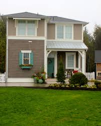 Brown Trim Paint House Door Paint Opinions Needed Blue Shutters Red Pillows And