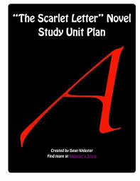 best the scarlet letter fan collection images   the scarlet letter by nathaniel hawthorne novel study unit plan