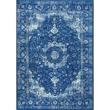 dark blue 5 ft x round area rug rugs 5x8 n