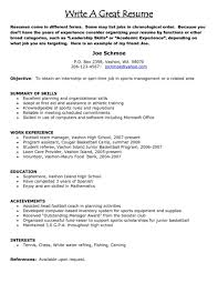 Resume Title Samples Good Resume Title Very Objectives Objective Format Download 78