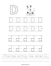 Practice writing the letter D Worksheet - Twisty Noodle