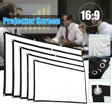 120 Inch 16-9 Foldable White Projection Screen Cloth Easy To ...