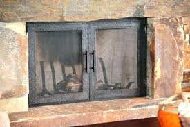 rustic fireplace screens with doors p89 rustic