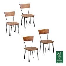 Finebuy Esszimmerstühle 2er Set Massiv Holz Küchen Stühle Doppelpack Holzstühle Braun Landhaus Stil Farbe Wählbar Dekorfrontsheesham