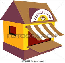 coffee shop building clipart. Wonderful Clipart In Coffee Shop Building Clipart D