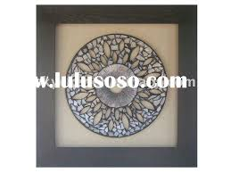 metal circle and square wall art