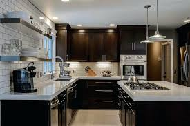dark cabinets light countertops dark kitchen cabinets with light granite magnificent office