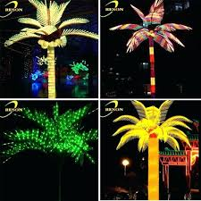 palm tree outdoor light decorative palm trees with lights awesome party decoration top led palm tree outdoor light