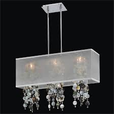 mother of pearl chandelier. Mother Of Pearl Chandelier - Rectangular Shade | Omni 627P By GLOW Lighting
