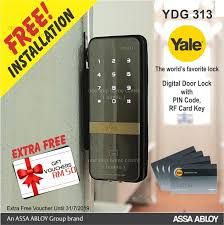 yale ydg 313 digital glass door lock