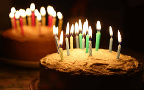Birthday Cakes With Candles Hd Wallpaper Background Images