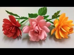 Rose Paper Flower Making How To Make Rose Paper Flower Making Paper Flowers Step By