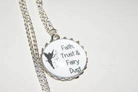 personalised necklace faith trust fairy dust e peter pan tinkerbell