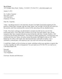 Cover Letter Example For Real Estate Assistant Zonazoom Com