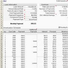 Mortgage Calculator With Amortization Chart Chart Designs Template
