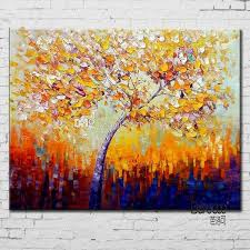 2019 100 hand painted landscape palette knife oil painting abstract colorful tree painting modern home wall decoration from chinaart2016 34 18 dhgate