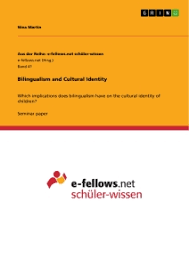 bilingualism and cultural identity publish your master s thesis  bilingualism and cultural identity