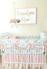 blush baby bedding pink and gold