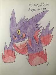 Day 132 of drawing every Pokemon: Mega Gengar: DanielsArt