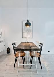 bistro style pendant lights are very trendy at the moment and you can check some good examples of lights above the dining table just here