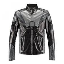 men s iron man celebrity leather jacket distressed black jackets