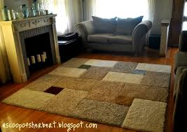 A Scoop of Sherbert large area rug DIY for under $30