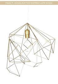 gold iron geometric star shade long cord pendant light fixture modern hanging lamp small