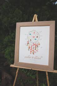 Books About Dream Catchers Fingerprint Guestbook Dreamcatcher Wedding Pinterest 39