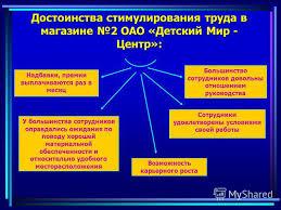 Презентация на тему Совершенствование стимулирования труда в  4 Объект исследования
