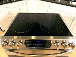 glass top stove black ran cleaning electric range cleaner replacement