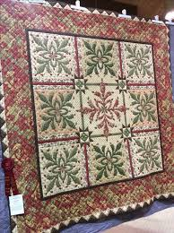 113 best Debbie's Quilts images on Pinterest | Appliques ... & Sauder Village Quilt Show 2017 and my Under the Mistletoe quilt. I needle  turn appliquéd the cactuses over the years. The quilt was hand quilted by  the ... Adamdwight.com