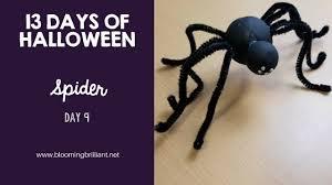 13 Days of Halloween Crafts- Day 9 Spider Craft